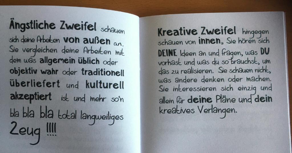 Aus dem kleinen Buch der kreativen Zweifel, Zacken Verlag